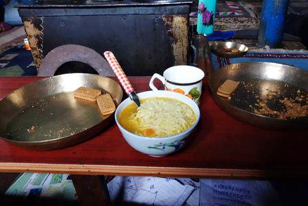 Hot noodles at Tabo