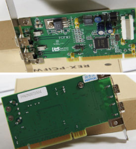Ratoc-PCIFW2-card