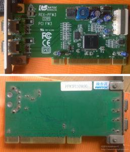 Ratoc-PCIFW3-card